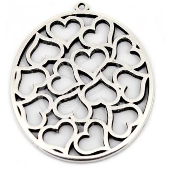 Medalhão Redondo c/ Vários Corações