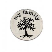 Pendente Aço Inox 22mm Gravação Árvore da Vida