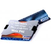 Porta Cartões de Alumínio c/ Gravação Pai