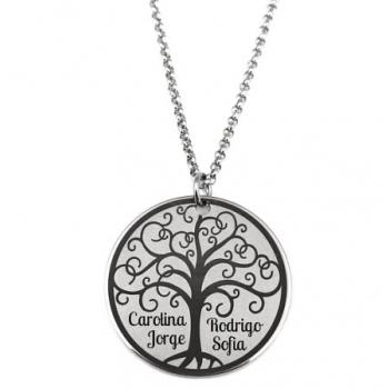 Colar Árvore da Vida c/ a Gravação dos Nomes.