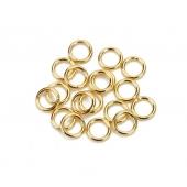 Argolas Douradas Aço Inox 6,0mm (26 und)