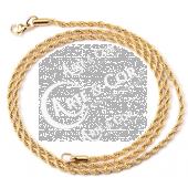 Fio Corrente Aço Inox Dourado Malha Twisted 3,0mm