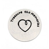 "Chapa 22mm Aço Inox Grav. ""Treasure the Memories"""