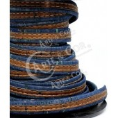 Cortiça Plana Azul/Castanho c/ Pesponto 10mm