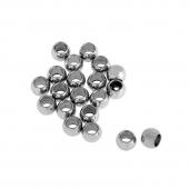 -Bolinhas Pequeninas 4mm Aço Inox Int. 2,2mm (pack 10 und)