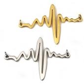 Conector Aço Inox Batimentos Cardíacos