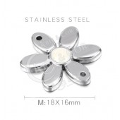 Conector Aço Inox Flor 18mm