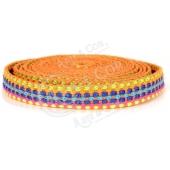 20cm - Fita Entrançada Colorida 10mm - Laranja