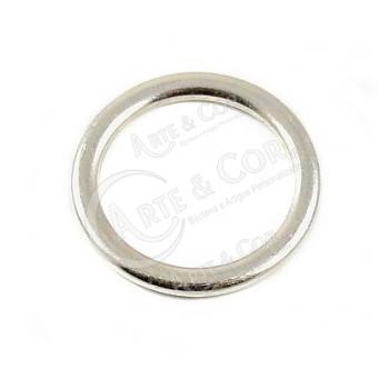 Argola Lisa 20mm - Banho de Prata